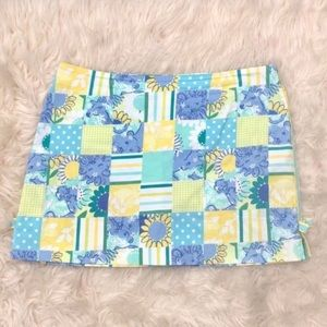 Lilly Pulitzer Zoo Print Trophy Patch Skort